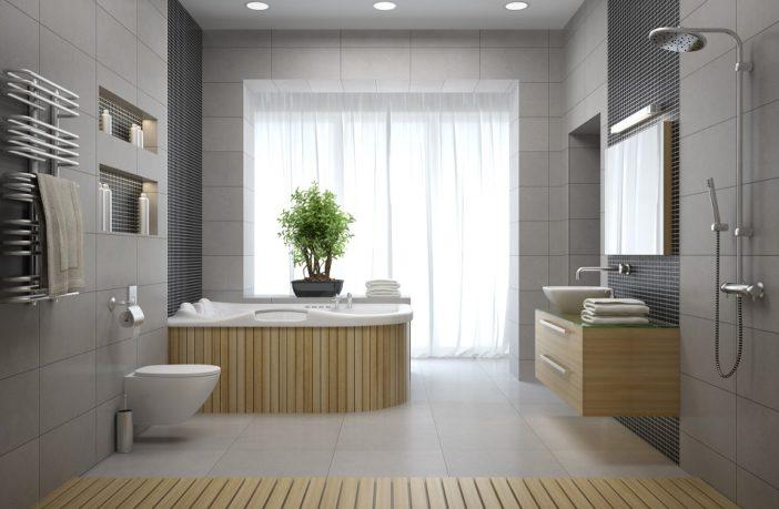 indretning af badeværelse