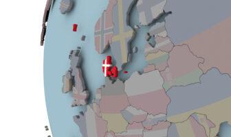 Danmark på verdenskort