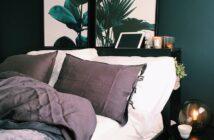 dejlig seng i soveværelset