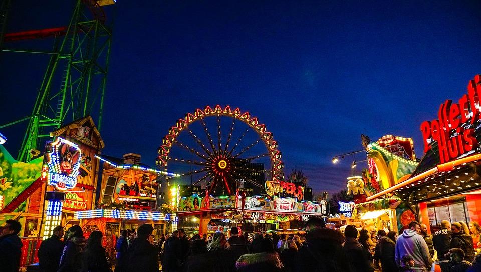 lys, tivoli, forlystelsespark, oplevelse